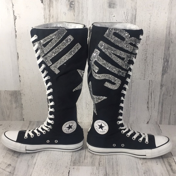ffc435fba568 Converse Shoes - Converse All Star sequined knee high boots. Size 8